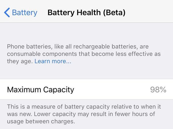 Kiểm tra tình trạng pin iPhone của bạn