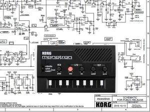 KORG Monotron – Hướng dẫn tháo lắp