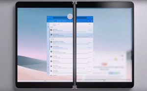 Surface Neo: laptop 2 màn hình với bản lề 360 độ, mở gập như cuốn sách, chạy Windows 10X