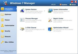 Windows 7 Manager 5.2.0 Full + Portable – Tối ưu tinh chỉnh Windows 7
