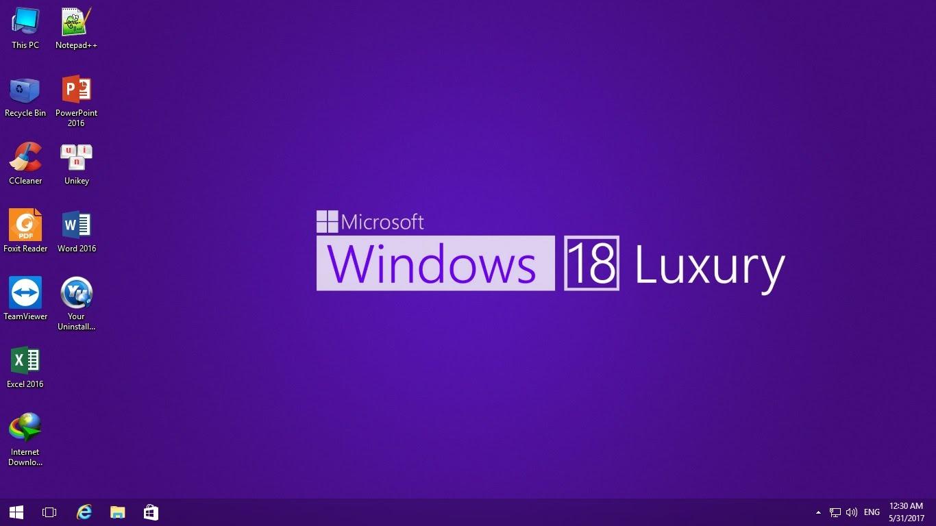 Ghost Windows 18 Luxury [X86 & X64] – Full Soft – Nhanh, Mượt Nhẹ By Lehait [Legacy – UEFI]