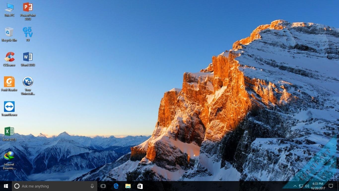 Ghost Windows 10 Fall Creator 1709 – Full Soft Nhanh, Mượt, Nhẹ 2017 By Lehait [Legacy & UEFI]