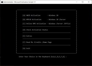 Activation Script 1.1 – Active Windows 10 Digital Và Office