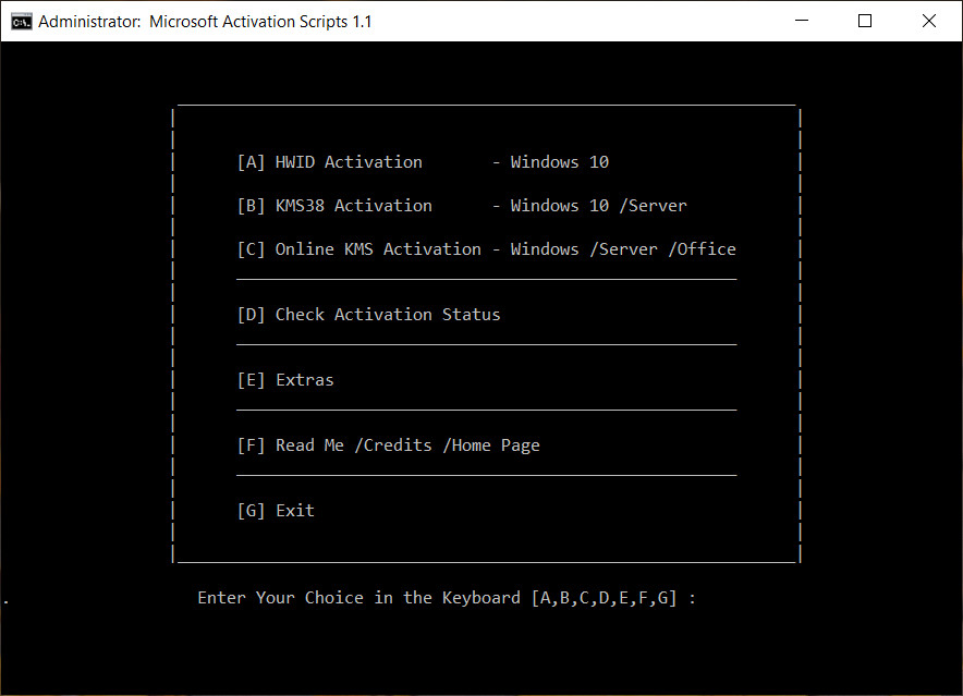 Activation Script 1.1 – Active Windows 10 Digital Và Office