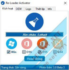 Re-Loader Activator 3.0 Final– Active Mọi Windows, Office