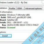 Windows Loader 2.2.2 – Phần Mềm Active Windows 7 Tốt Nhất
