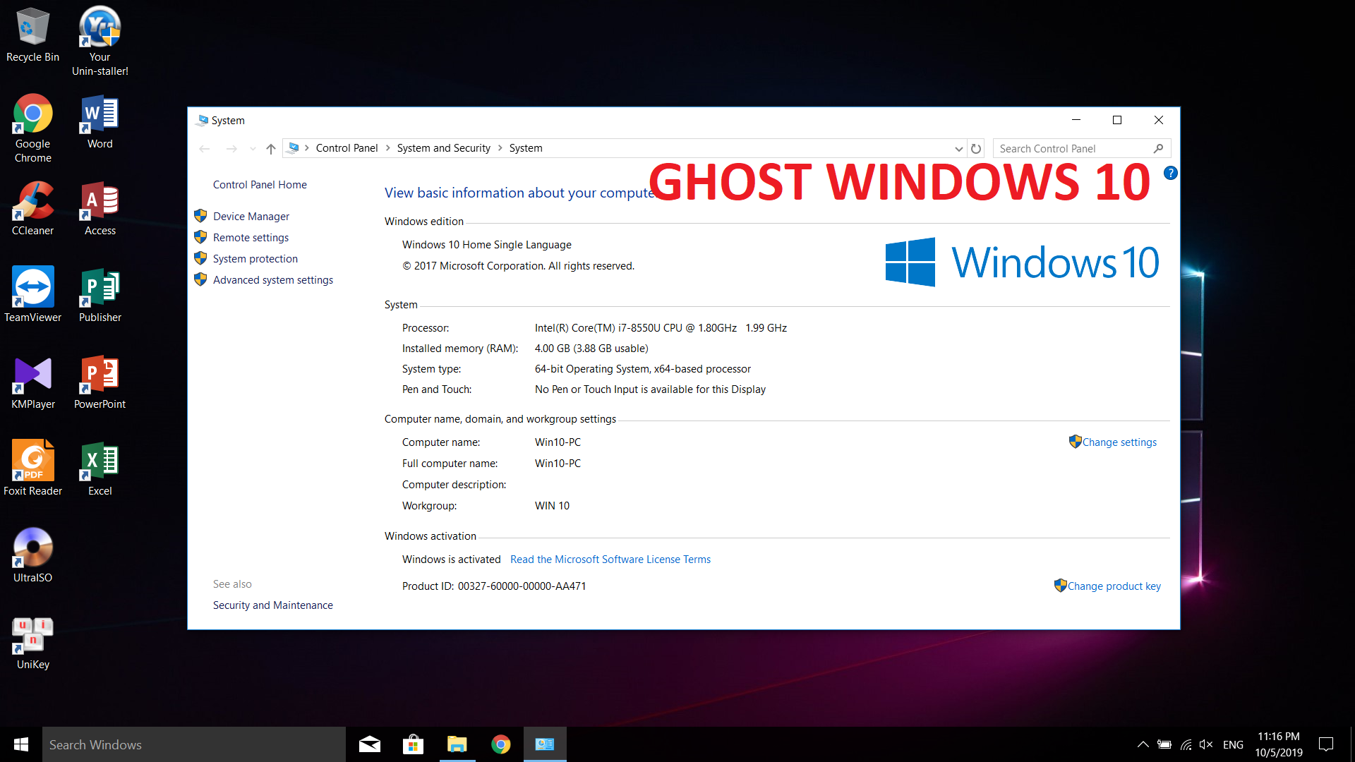 Ghost Win 10 64bit Lehait Google Drive – Link tải nhanh, an toàn