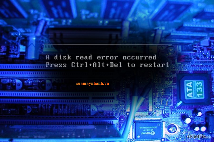Cách khắc phục lỗi A Disk Read Error Occurred trên máy tính Windows 10
