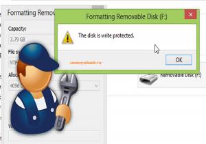 Sửa lỗi The disk is write-protected chống ghi USB, thẻ SD trên Windows