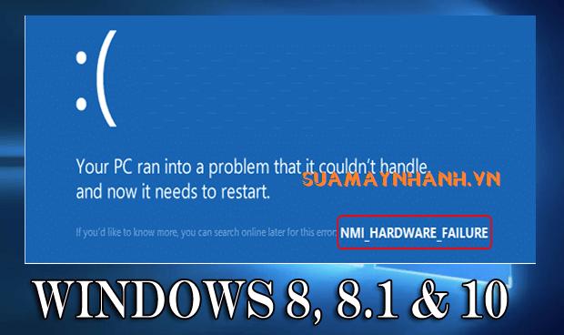 Sửa lỗi màn hình xanh NMI Hardware Failure trên Windows 10 và 8