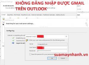 Mật khẩu ứng dụng đăng nhập Gmail bật xác minh 2 buớc trên Outlook