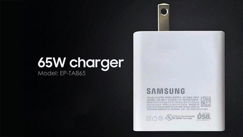 Bộ sạc Samsung 65W PD đạt chứng nhận khác