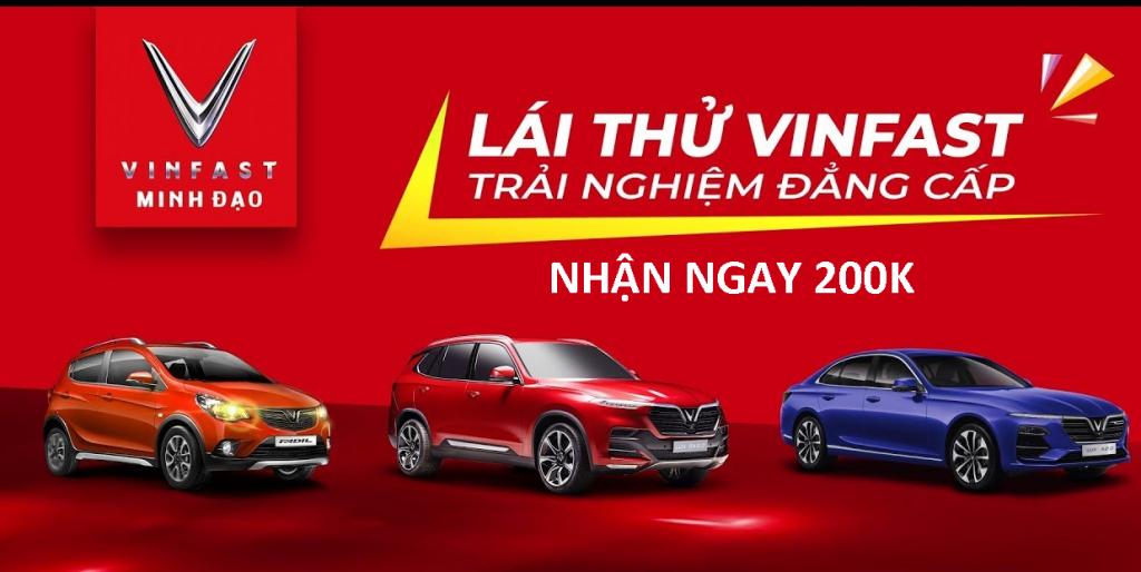 Lái thử xe Ô tô VinFast nhận 200k khi hoàn thành tại Suamaynhanh.vn