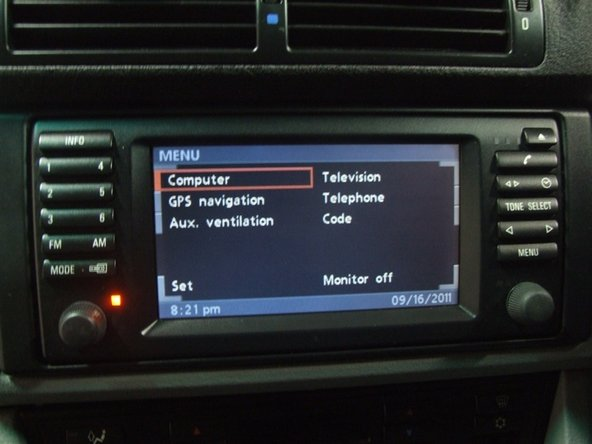 Trang bị thêm Mô-đun Truyền hình BMW 1997-2003 BMW 5 Series