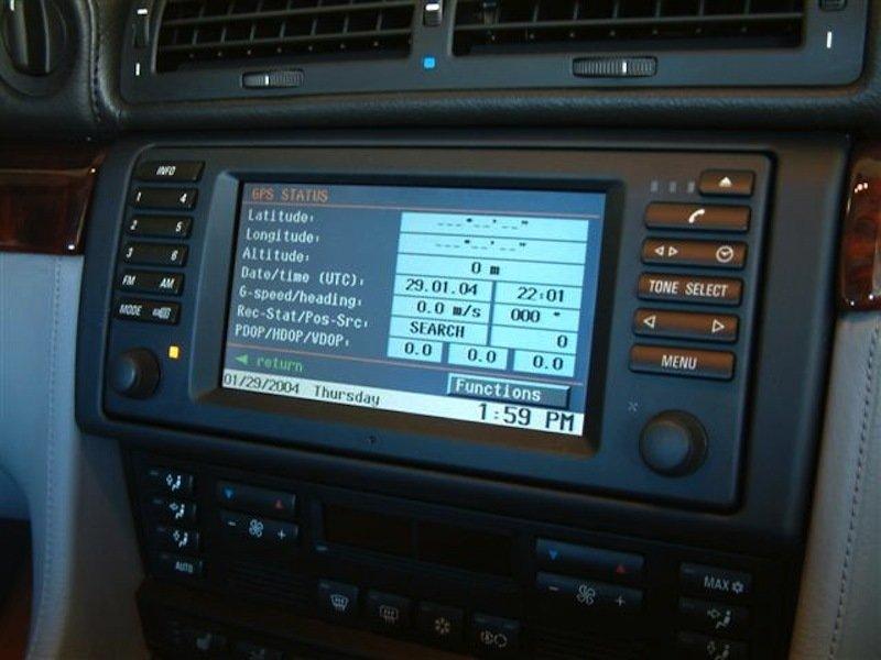 Cách truy cập menu dịch vụ điều hướng của hệ thống điều hướng BMW E38 E39 X5 Z4 E46
